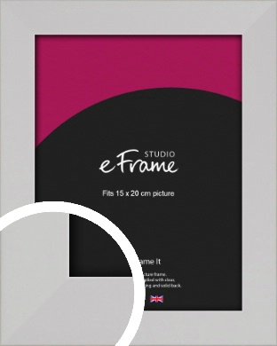 Bright White Picture Frame, 15x20cm (6x8