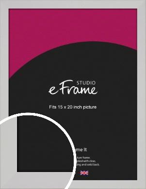 Bright White Picture Frame, 15x20