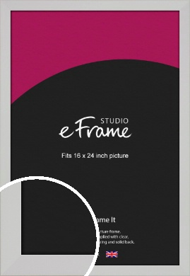 Bright White Picture Frame, 16x24