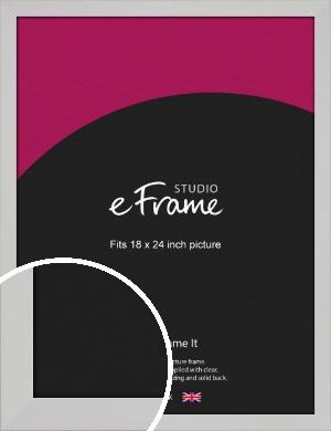 Bright White Picture Frame, 18x24