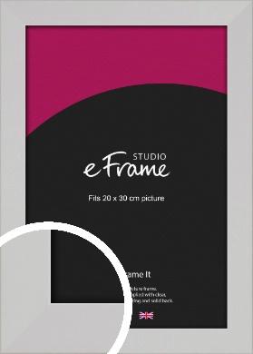 Bright White Picture Frame, 20x30cm (8x12