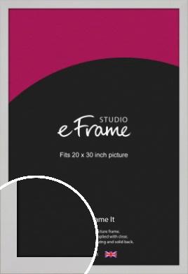 Bright White Picture Frame, 20x30