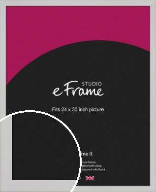 Bright White Picture Frame, 24x30