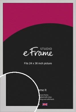 Bright White Picture Frame, 24x36