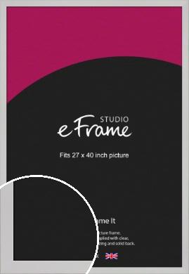 Bright White Picture Frame, 27x40