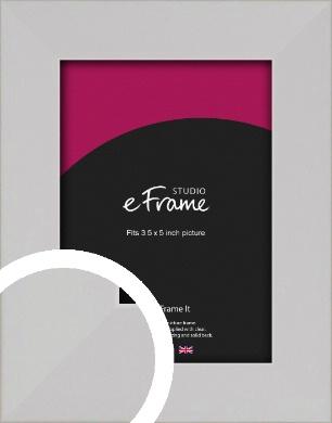 Bright White Picture Frame, 3.5x5