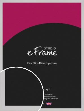 Bright White Picture Frame, 30x40