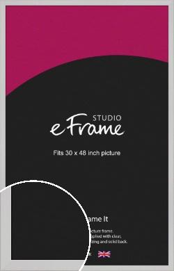 Bright White Picture Frame, 30x48