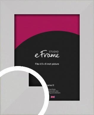 Bright White Picture Frame, 4.5x6
