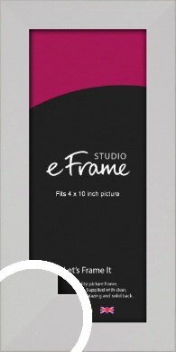 Bright White Picture Frame, 4x10