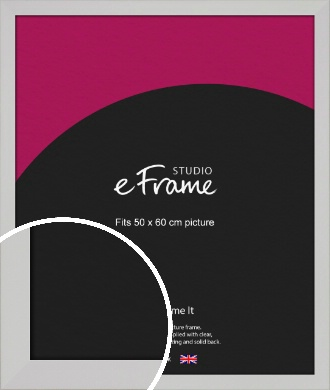 Bright White Picture Frame, 50x60cm (VRMP-1305-50x60cm)