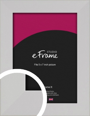 Bright White Picture Frame, 5x7