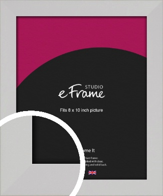 Bright White Picture Frame, 8x10
