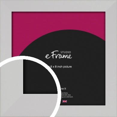 Bright White Picture Frame, 8x8