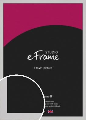 Bright White Picture Frame, A1 (594x841mm) (VRMP-1305-A1)
