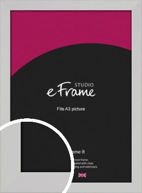 Bright White Picture Frame, A3 (297x420mm) (VRMP-1305-A3)