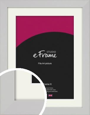Bright White Picture Frame & Mount, A4 (210x297mm) (VRMP-1305-M-A4)