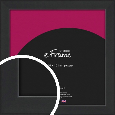 Contemporary Off Black Picture Frame, 10x10