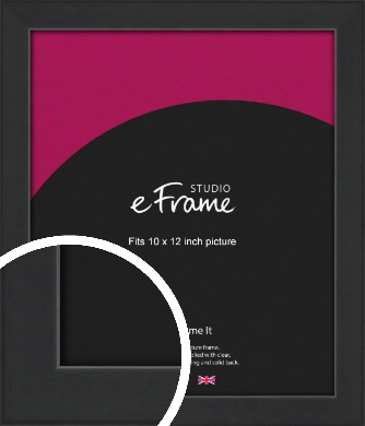 Contemporary Off Black Picture Frame, 10x12