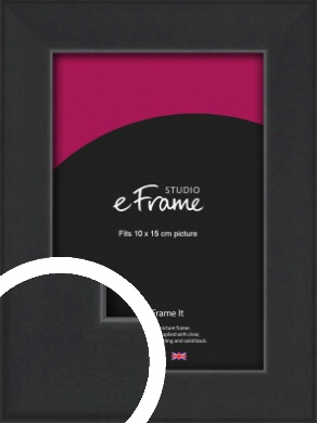 Contemporary Off Black Picture Frame, 10x15cm (4x6
