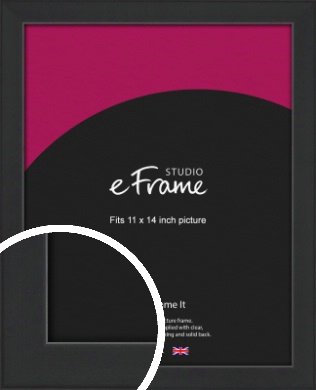 Contemporary Off Black Picture Frame, 11x14