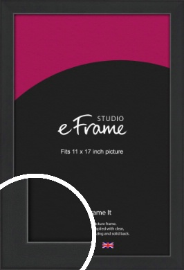 Contemporary Off Black Picture Frame, 11x17