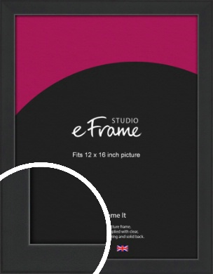 Contemporary Off Black Picture Frame, 12x16