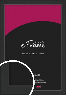 Contemporary Off Black Picture Frame, 12x18