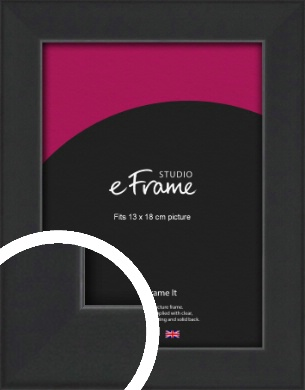 Contemporary Off Black Picture Frame, 13x18cm (5x7