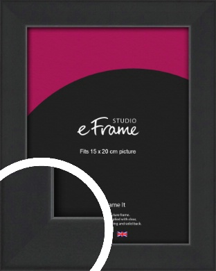 Contemporary Off Black Picture Frame, 15x20cm (6x8