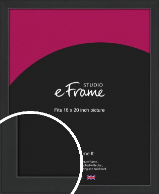 Contemporary Off Black Picture Frame, 16x20