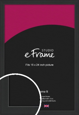 Contemporary Off Black Picture Frame, 16x24