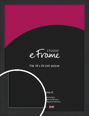 Contemporary Off Black Picture Frame, 18x24