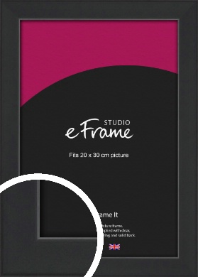 Contemporary Off Black Picture Frame, 20x30cm (8x12