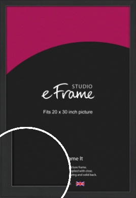 Contemporary Off Black Picture Frame, 20x30
