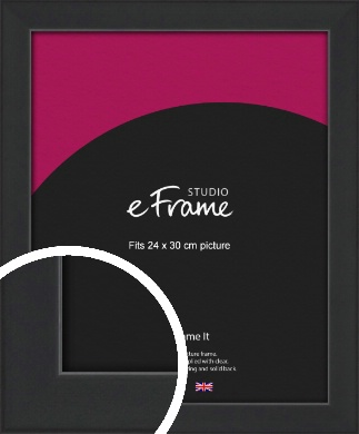 Contemporary Off Black Picture Frame, 24x30cm (VRMP-1306-24x30cm)