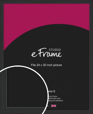 Contemporary Off Black Picture Frame, 24x30
