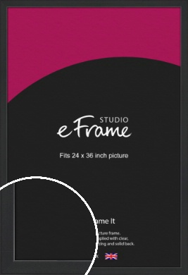 Contemporary Off Black Picture Frame, 24x36