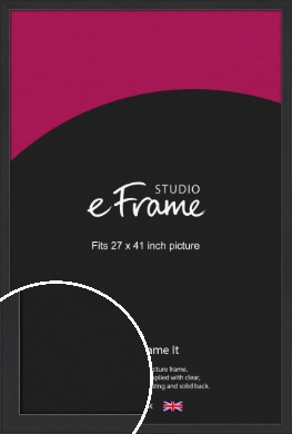 Contemporary Off Black Picture Frame, 27x41