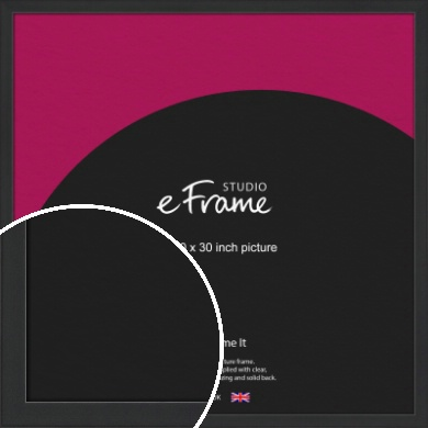 Contemporary Off Black Picture Frame, 30x30