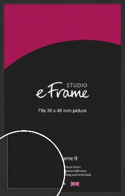 Contemporary Off Black Picture Frame, 30x48