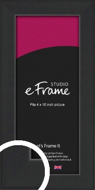 Contemporary Off Black Picture Frame, 4x10