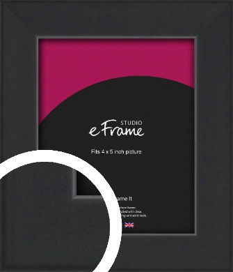 Contemporary Off Black Picture Frame, 4x5