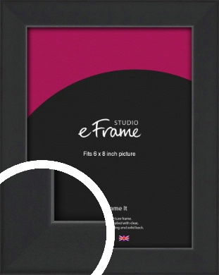 Contemporary Off Black Picture Frame, 6x8
