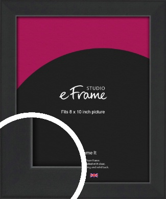 Contemporary Off Black Picture Frame, 8x10