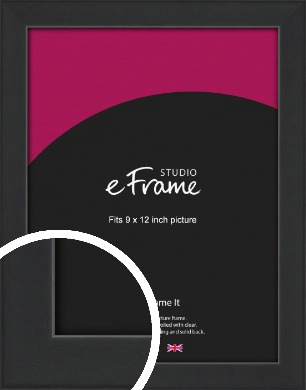 Contemporary Off Black Picture Frame, 9x12