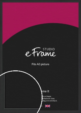 Contemporary Off Black Picture Frame, A0 (841x1189mm) (VRMP-1306-A0)