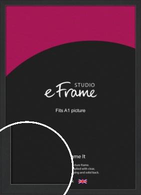 Contemporary Off Black Picture Frame, A1 (594x841mm) (VRMP-1306-A1)