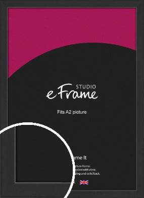 Contemporary Off Black Picture Frame, A2 (420x594mm) (VRMP-1306-A2)