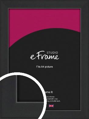 Contemporary Off Black Picture Frame, A4 (210x297mm) (VRMP-1306-A4)